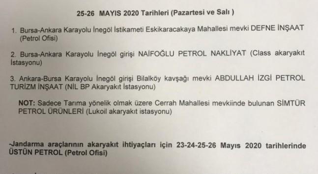 Bayram yasağında nöbetçi petrol istasyonları belli oldu [23-26 Mayıs]