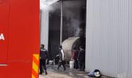 Orman ürünleri fabrikasında yangın