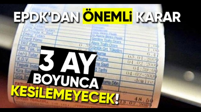 EPDK'DAN ELEKTRİK KESİNTİSİ KARARI
