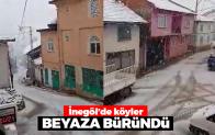 İnegöl'de köyler beyaza büründü